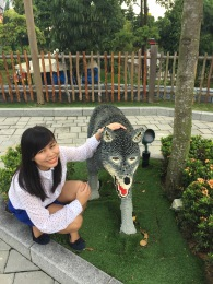 Me with my pet wolf...