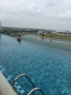 Infinity Pool at the hotel overlooking a magnificent view. :)